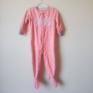 🐘 4 for $12. Toddler Girls Pink Footie Pajamas